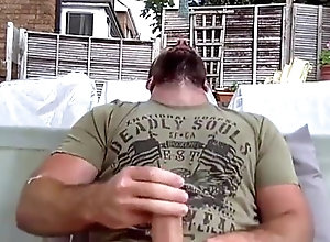 Bear (Gay);Cum Tribute (Gay);Handjob (Gay);Masturbation (Gay) BEEFY STR8...