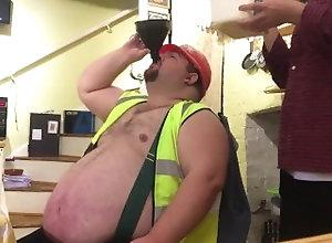 kink;fat;belly;bear;icecream;feeding,Bareback;Gay construction help...