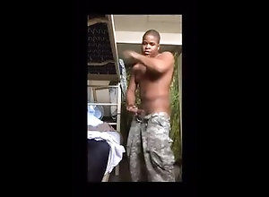 soldier;army;barracks;jerking-off;caught;uniform;acu;stroking;huge;big;thug,Black;Solo Male;Big Dick;Gay;Straight Guys;Public;Amateur;Cumshot;Military Horny soldier...