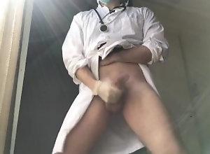 doctor;medico;hospital;ärztin;医生;医師;metge;ospedale;医院;hopital;jerk-off-outdoors;work;dentista;dentist;big-dick;big-cock,Fetish;Solo Male;Big Dick;Gay;Straight Guys;Public;Reality;Handjob;Uncut;Cumshot Doctor with a...