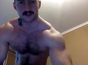 Amateur (Gay);Big Cock (Gay);Hunk (Gay);Masturbation (Gay);Muscle (Gay) Moustache and...