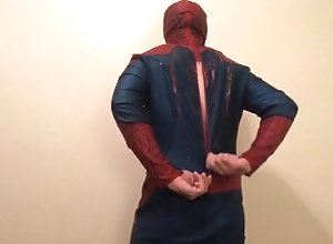 zippering;cosplay;solo-male;spandex;cock-tease;homoerotic;gay-oriented;spiderman;marvel;superhero;comic-book;costume;tease;mask-fetish;adam-castle;jockstrap,Fetish;Solo Male;Gay;Amateur Spidey Zippering...