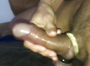 Men (Gay) Cum with cockring...