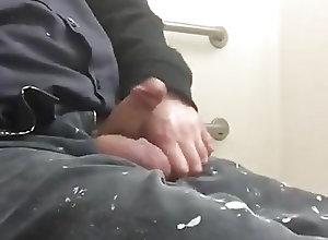 Amateur (Gay);Big Cocks (Gay);Daddies (Gay);Masturbation (Gay);Men (Gay);At Work Str8 daddy horny...