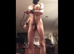 shibari-bondage;self-tie;shibari-tutorial,Solo Male;Gay;Verified Amateurs Self shibari...