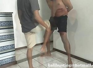 ballbusting;gay-ballbusting;ballbusting-gay;groin-kick;latin,Black;Latino;Gay Sadistic Ballbuster
