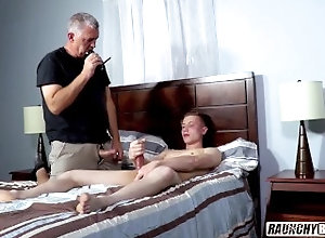 raunchybastards;twink;creep;creeper;older-man;er-man;handjob;gay-4-pay;first-time-gay;straight-boy;straight;big-cock,Daddy;Twink;Big Dick;Gay;Straight Guys;Handjob;Cumshot;Casting Old Creep Plays...
